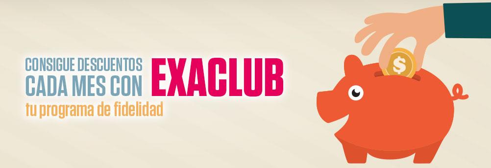 Consigue descuentos cada mes con ExaClub